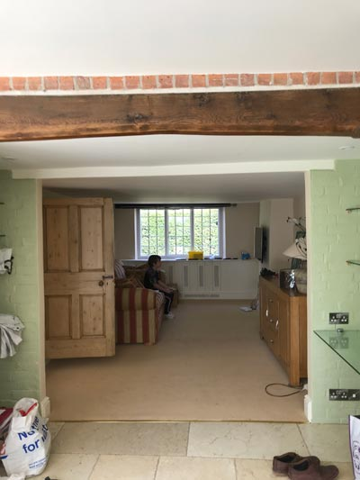 Refurbishment Listed Thatched Cottage Iwerne Minster - Emerald Painters Portfolio