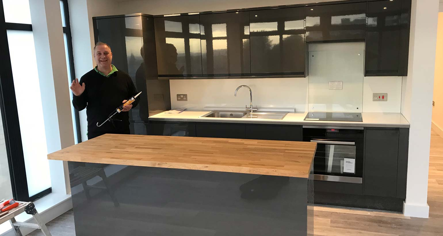 Kitchen Fitting Hinton Road New Build