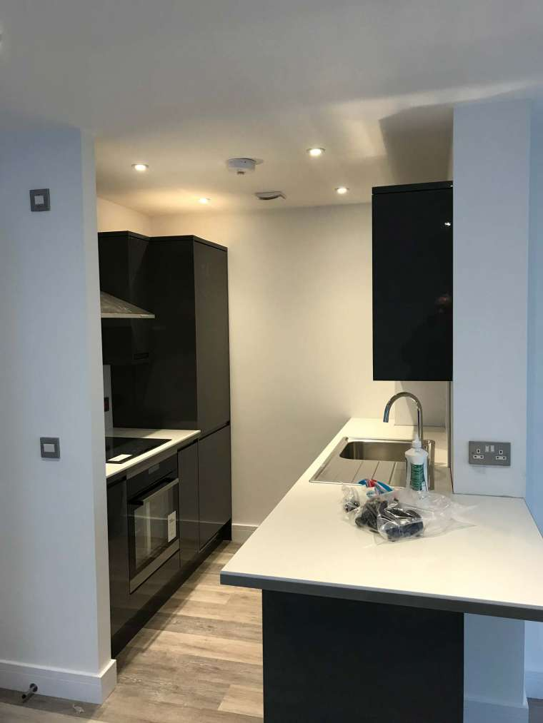 Kitchen Fitting Hinton Road Bournemouth New Build - Emerald Painters Portfolio