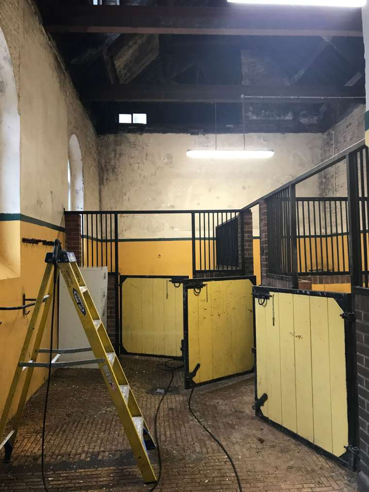 Before - Horse Stables Refurbishment Bryanston School Blandford - Emerald Painters Portfolio