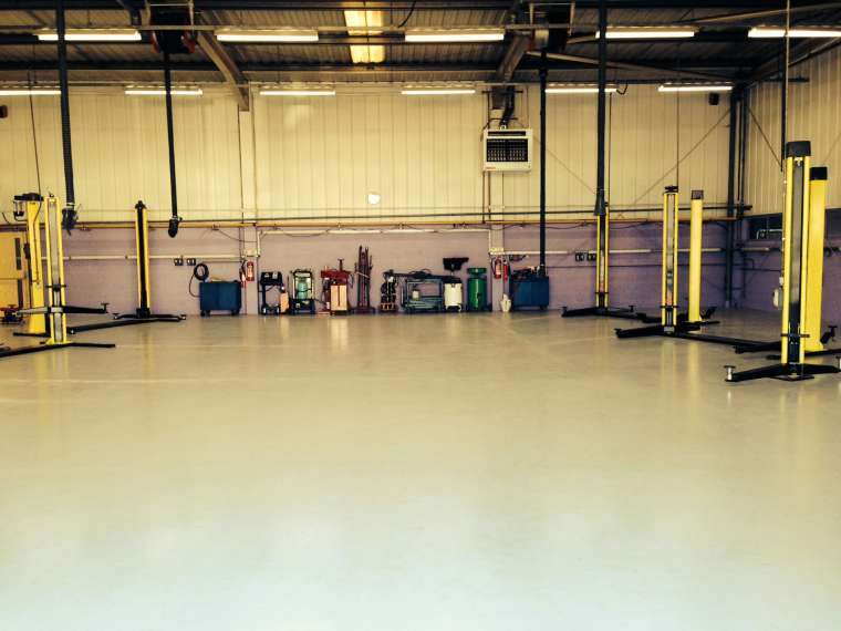 Garage Redecoration including Floor in Southampton - Emerald Painters Portfolio