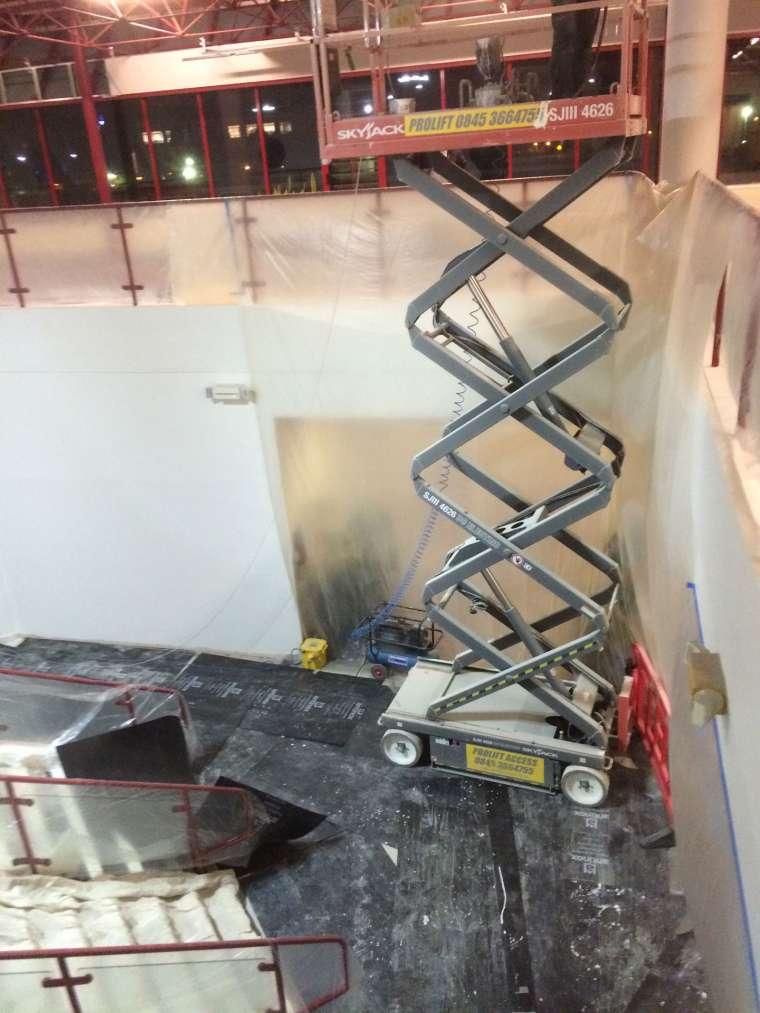 Interior Spraying Royal Bournemouth Hospital Atrium - Emerald Painters Portfolio