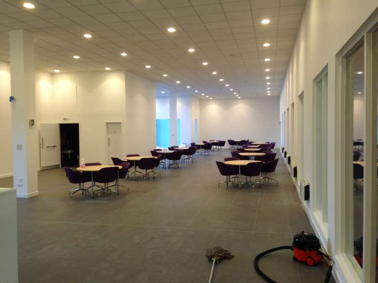 Paint Spraying in Imperial Car Showrooms - Southampton - Emerald Painters Portfolio
