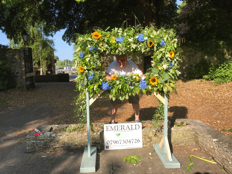 Christchurch Flower Festival Sponsor Emerald Painters in Dorset