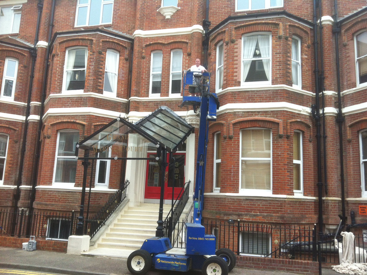 Emerald Painters are licensed for access machinery for difficult access areas Bournemouth Poole Christchurch Dorset