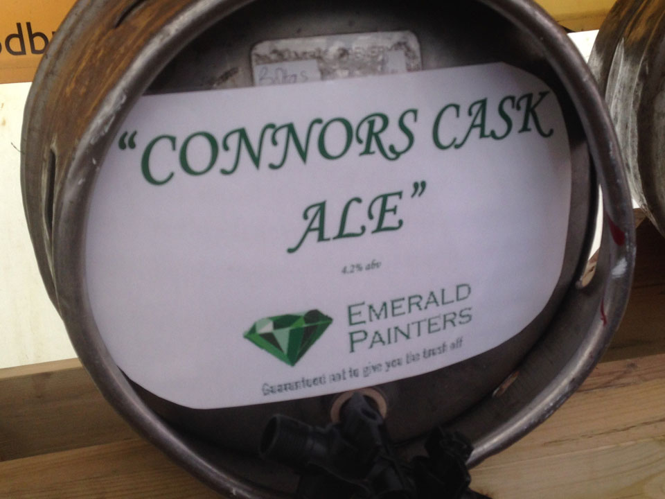 Emerald Painters Sponsoring Christchurch Music Festival 2014 Conors Cask Ale