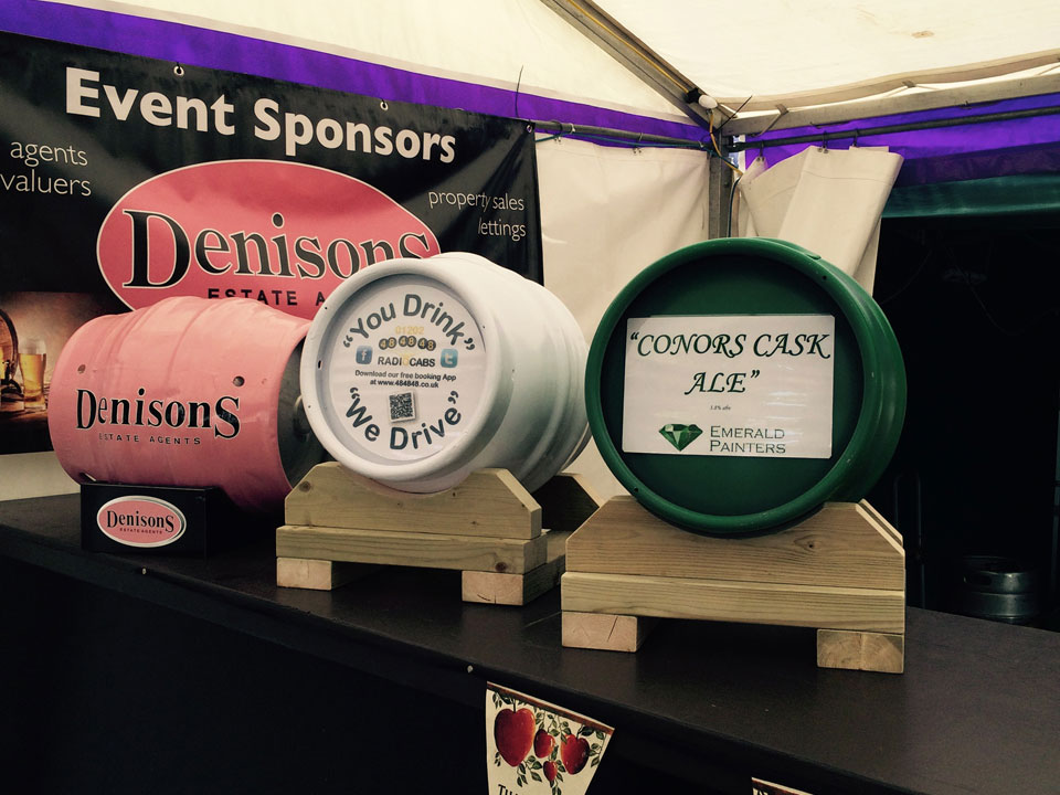 Emerald Painters Sponsoring Christchurch Music Festival 2015 Conors Cask Ale