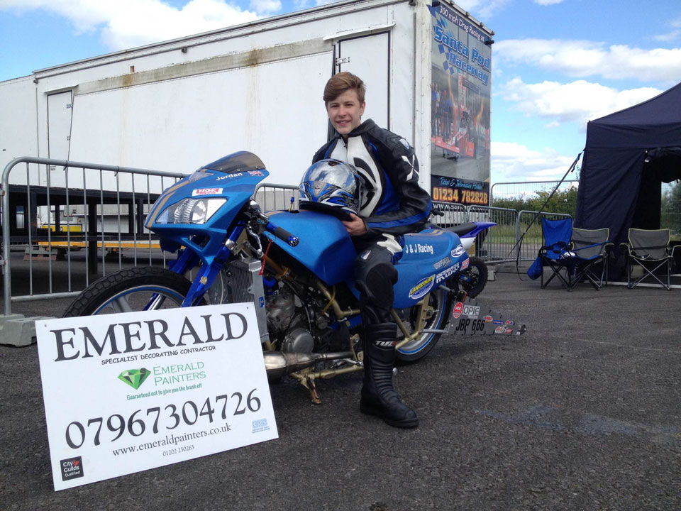 Emerald Painters Sponsoring Youth Drag Racing - Dorset