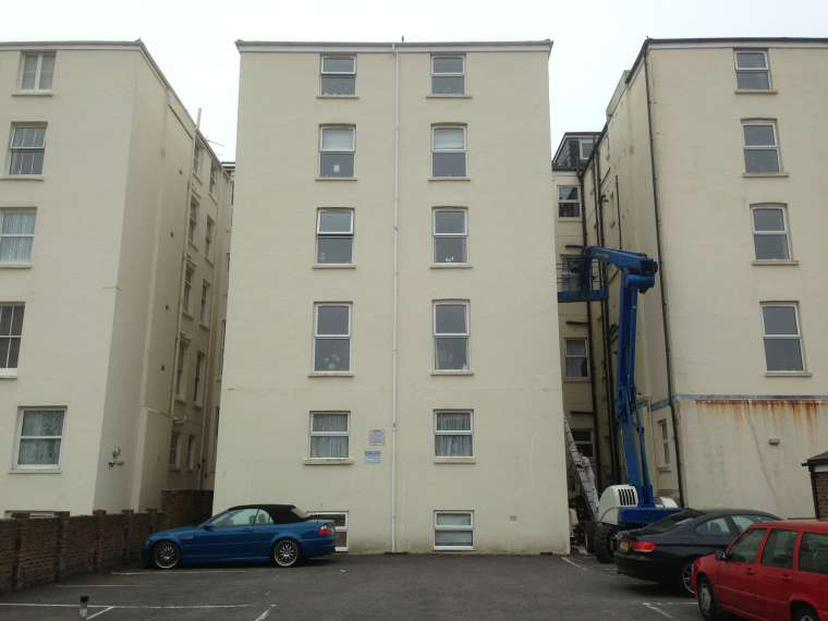 Exterior Painting to a Block of Flats - Emerald Painters Portfolio