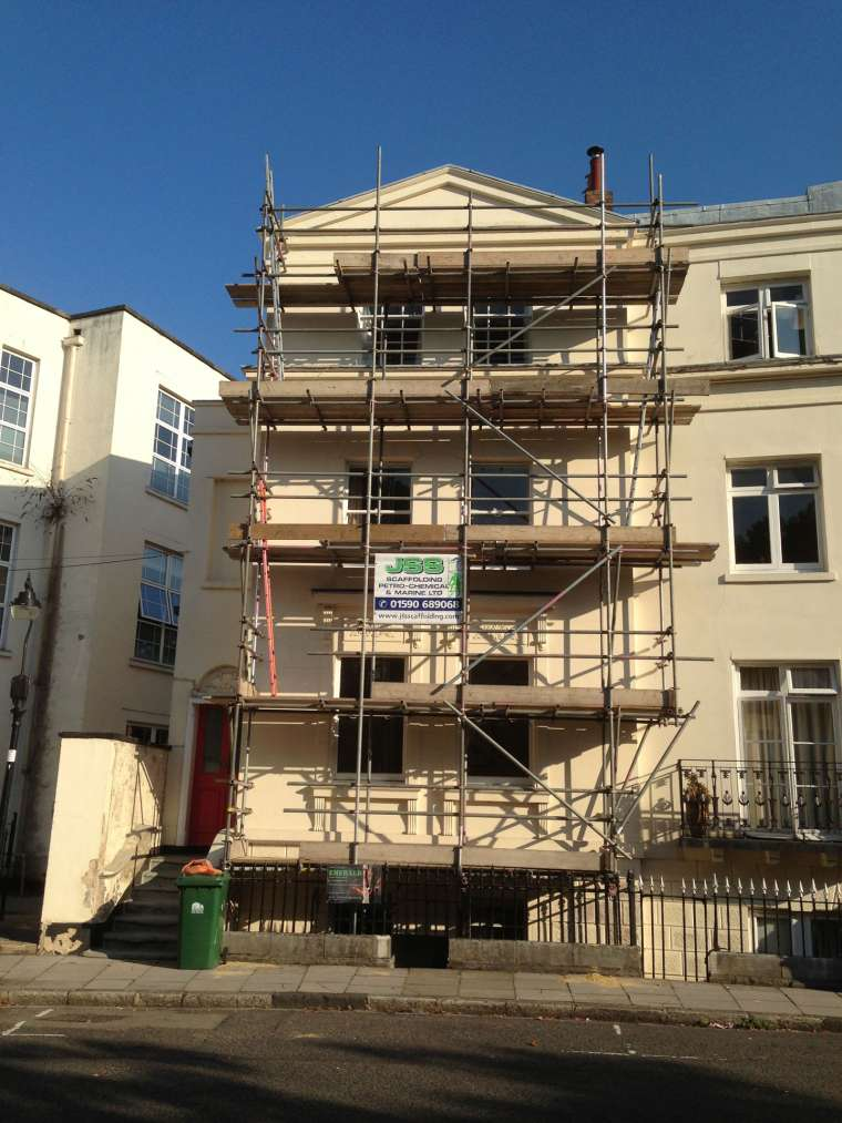 During Exterior Painting to a Block of Flats - Emerald Painters Portfolio