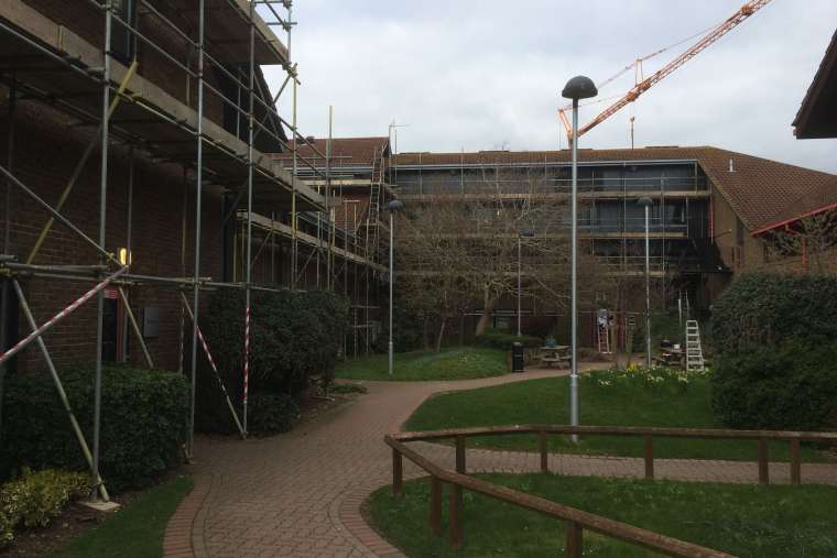 Before - Exterior Painting of Bournemouth Arts University - Emerald Painters Portfolio