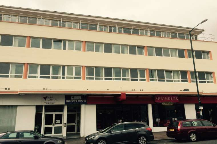 After - Exterior painting of student accommodation in Bournemouth