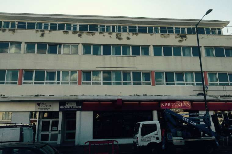 Before - Exterior painting of student accommodation in Bournemouth