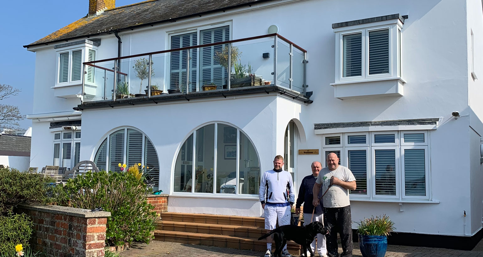 Featured Exterior Painting Contract at Mudeford for Local Councillor - Emerald Painters Portfolio