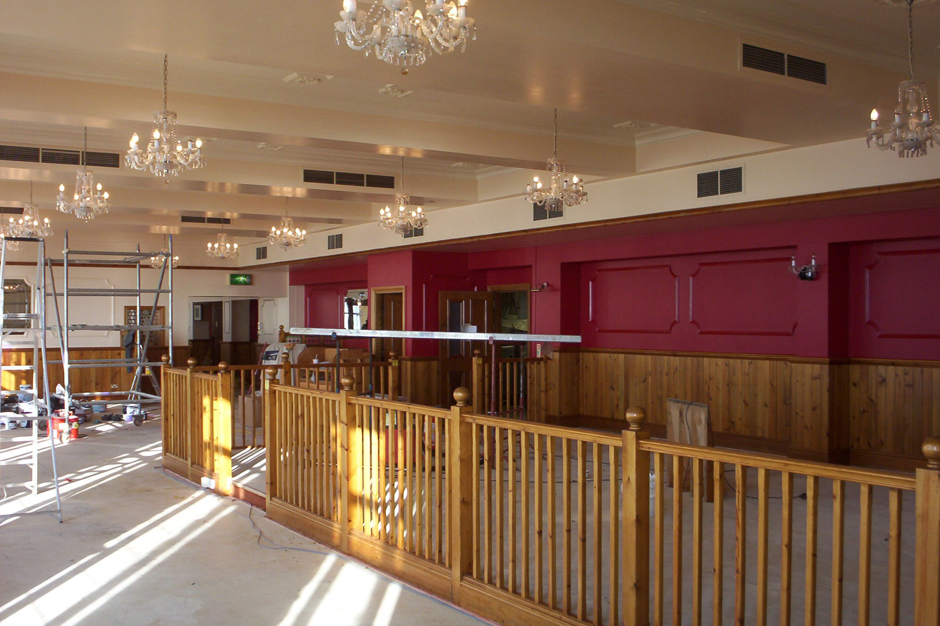 Interior Decorating of Harry Ramsdens Restaurant on Bournemouth Seafront