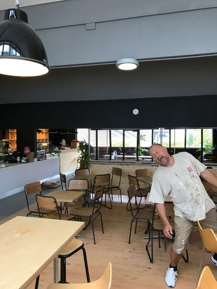 Interior Painting of Costa Cafe in Bournemouth University - Emerald Painters Portfolio