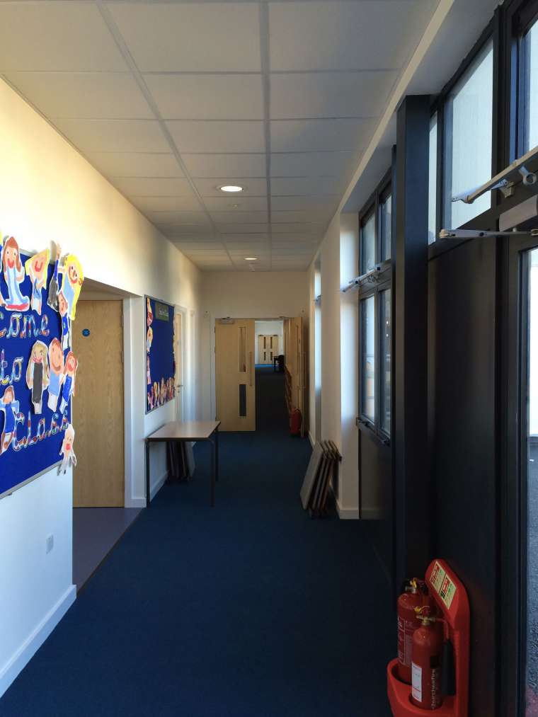 Internal Decoration of Avonwood Primary School in Bournemouth - Emerald Painters Portfolio