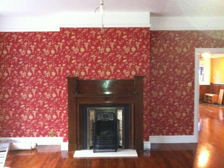 Internal Fireplace Wall Decoration Renovation of a Property in Sandbanks Poole - Emerald Painters Portfolio