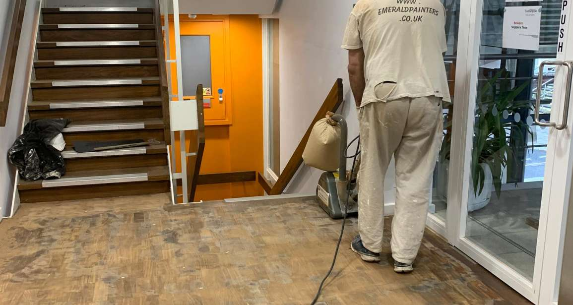 Southampton University – Restoration of Parquet Flooring with Intumescent Varnish