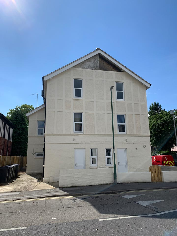 Exterior of HMO House in Multiple Occupation Painted by Emerald Painters Bournemouth