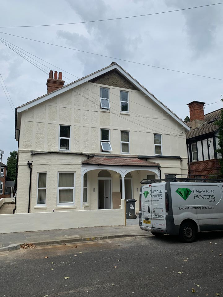 Exterior of HMO House of Multiple Occupancy Painted by Emerald Painters Bournemouth