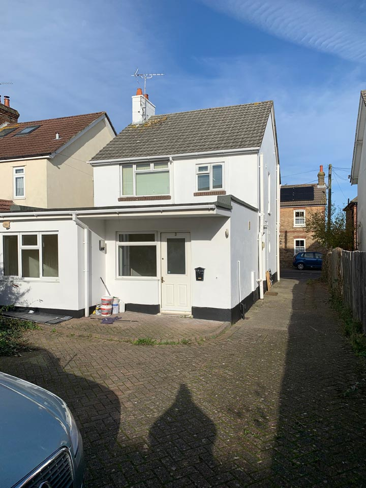Exterior Painting to Back of Home in Poole - After Photo by Emerald Painters
