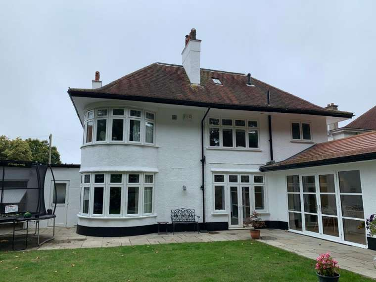 External Decorating Project - Back Finish After Painting of a Large Household in Bournemouth by Emerald Painters
