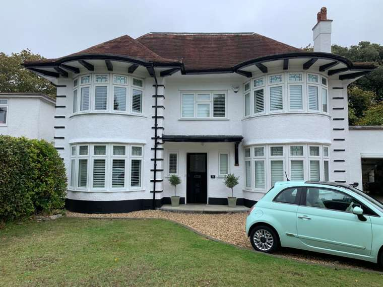 External Decorating Project - Front Finish After Painting of a Large Household in Bournemouth by Emerald Painters