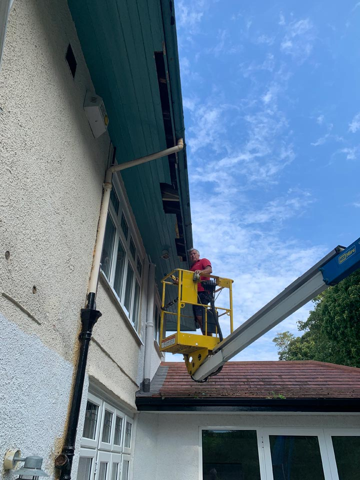 External Decorating Project - Repairs and Preparation Work before Painting of a Large Household in Bournemouth by Emerald Painters