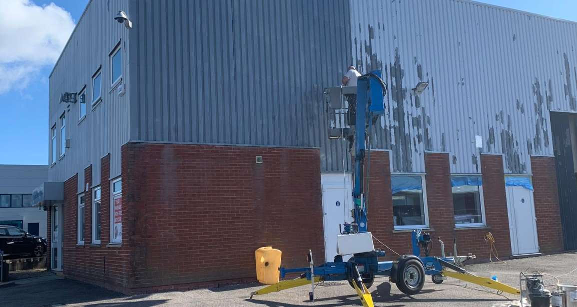 Painting Hendy MG Car Showroom in Poole by Emerald Painters - Featured