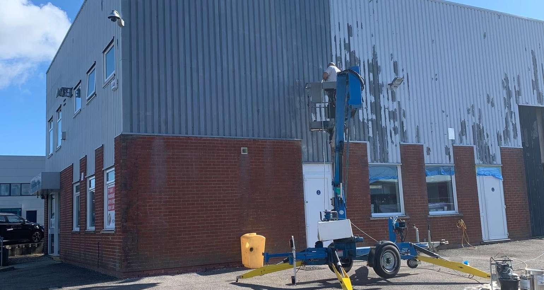 Painting Hendy MG Car Showroom in Poole