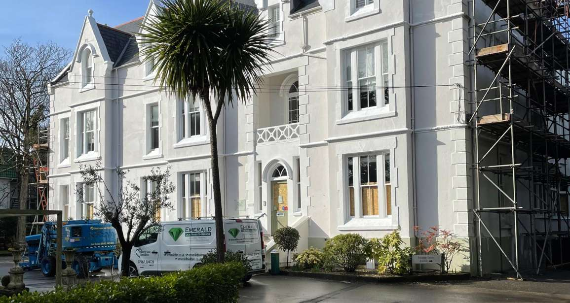 Refurbishment of The Green House Hotel Bournemouth including Redecorating New Render Timber Repairs by Emerald Painters - Featured