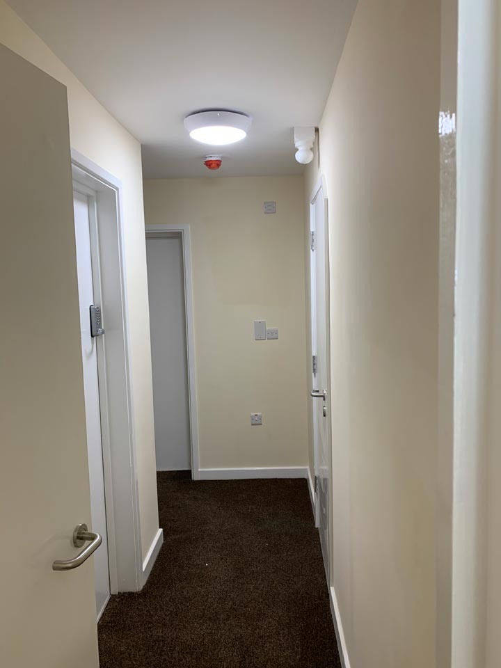 Hallway Painted in HMO House of Multiple Occupancy by Emerald Painters Bournemouth