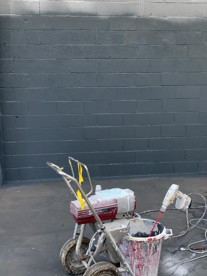 Paint Spraying the Interior Walls to an Industrial Warehouse Unit in Hamworthy - After Photo by Emerald Painters