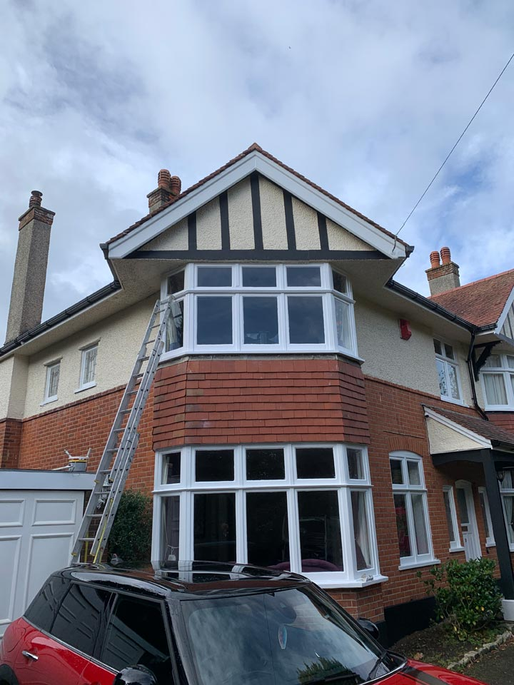 Portman Estate House in Bournemouth - Finished Windows after Repairs and Painting After Photo by Emerald Painters