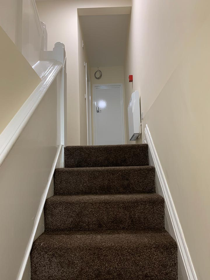 Stairs and Landing Painted in HMO House of Multiple Occupancy by Emerald Painters Bournemouth