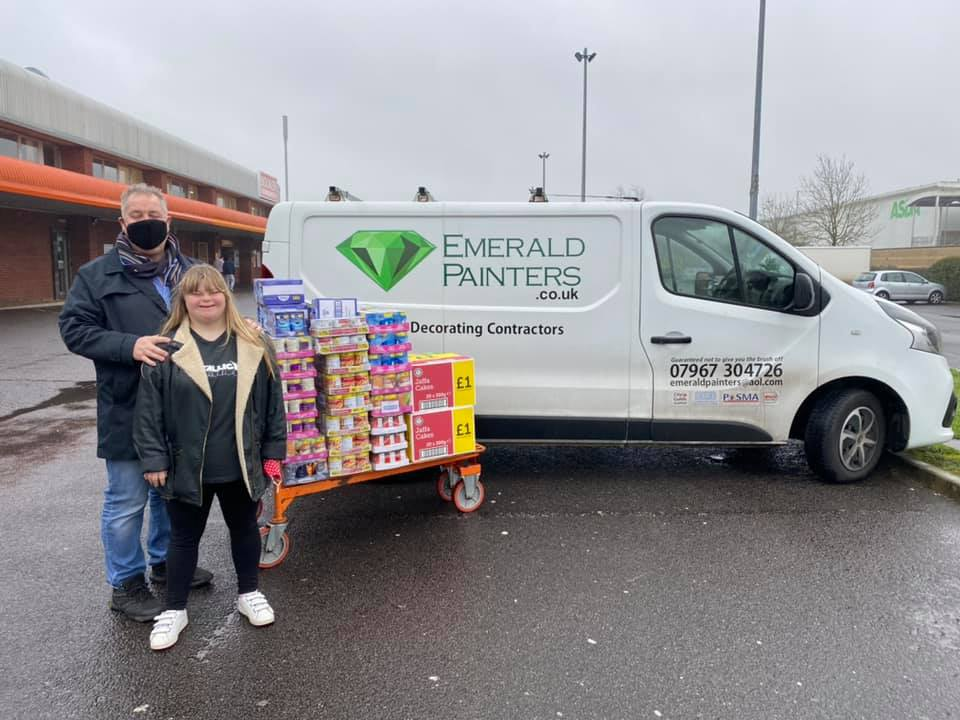 Emerald donating to Southbourne Food Bank Christmas 2020