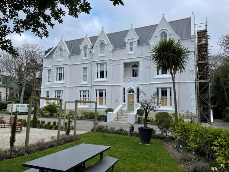 Refurbishment of The Green House Hotel Bournemouth - Finished Exterior Hotel After by Emerald Painters