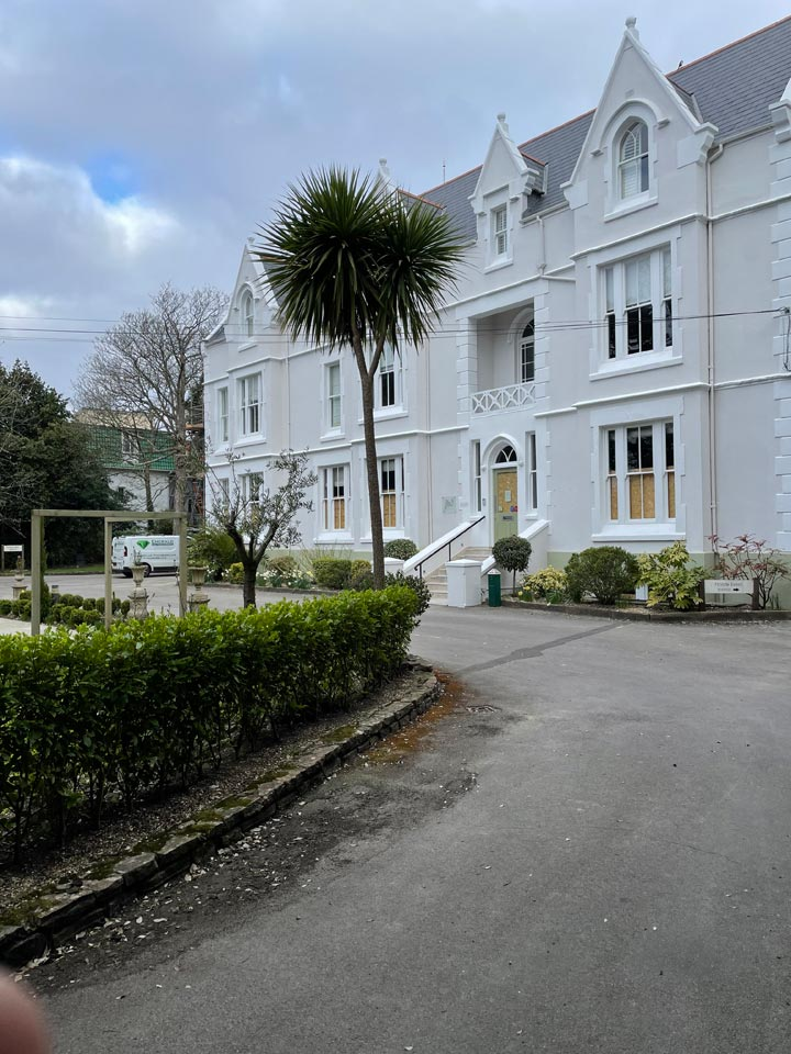 Refurbishment of The Green House Hotel Bournemouth - Hotel Front After by Emerald Painters